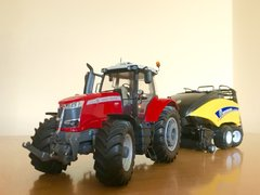 Massey Ferguson 7726 S + New Holland BB 1290 CROPCUTTER